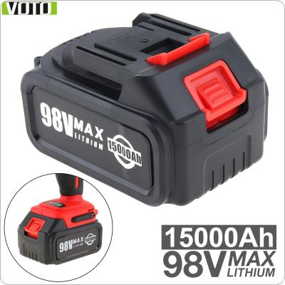 VOTO Universal 98V Max 15000mAh Li-ion Rechargeable Battery with Flat Push Type and 2 Slots for Impact Electric Wrench