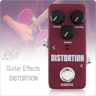 KOKKO Mini Electric Guitar Bass Effect Pedal Classic DISTORTION Tone True Bypass Full Metal Shell