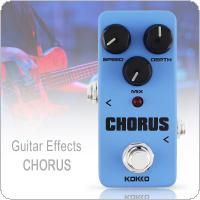 KOKKO Mini Electric Guitar Bass Effect Pedal Warm Analog CHORUS Effect True Bypass Full Metal Shell