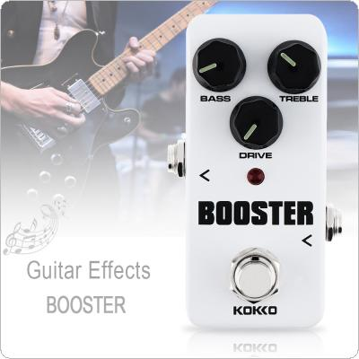 KOKKO Mini Electric Guitar Bass Effect Pedal BOOSTER Built in 2 Band EQ Control Increase the Volume True Bypass Full Metal Shell