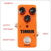 KOKKO Mini Electric Guitar Bass Effect Pedal TIMER Classical Digital Delay 1 Second True Bypass Full Metal Shell