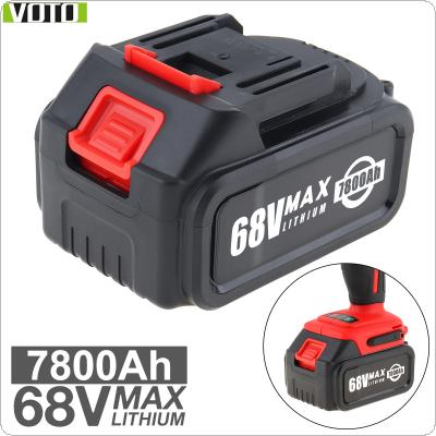 VOTO Universal 68V Max 7800mAh Li-ion Rechargeable Battery with Flat Push Type and 2 Slots for Impact Electric Wrench