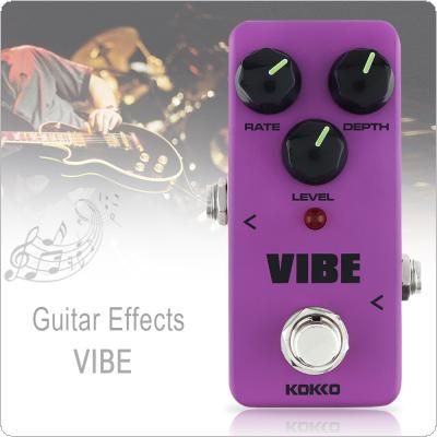 KOKKO Mini Analog Rotary Speaker VIBE Electric Guitar Bass Effect Pedal True Bypass Full Metal Shell