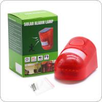 Sound and Light PIR Motion Sensor Solar Warning Lamp with 110 Degree Lateral Sensing and Two Modes Swich for Farm / Factory / Mountain Villas