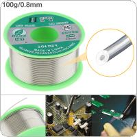 100g 0.8mm 99.7% Sn 0.03% Cu Environmental Friendly Lead-free Rosin Core Solder Wire with Flux and Low Melting Point for Electric Soldering Iron
