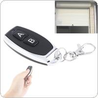 Universal 2 Channel Wireless Cloning Electric Gate Garage Door Remote Control 433MHz Switch with Keychain