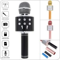 WS858 Bluetooth Wireless Handheld Microphone Hifi Speaker with Multi-function Adjustment Panel for Meeting / Classroom / Karaoke / KTV / Recorder