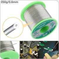 250g 0.6mm 99.7% Sn 0.03% Cu Environmental Friendly Lead-free Rosin Core Solder Wire with Flux and Low Melting Point for Electric Soldering Iron