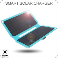 Solar Charger 10W Solar Panel with USB Port Waterproof Foldable Camping Travel Charger Fit for iPhone / iPad / Galaxy