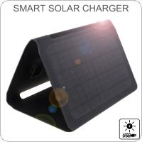 Solar Charger 20W Solar Panel with Dual USB Port Waterproof Foldable Camping Travel Charger for iPhone / iPad / Galaxy / Note and More