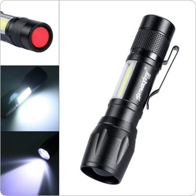 E80 Mini Telescopic Focusing 300 Lumens XPE + COB Sidelights Aluminum Alloy Glare LED Flashlight with 3 Modes for Outdoor Activities / Daily Life