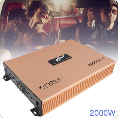 2000W Class AB Digital 4 Channel Aluminum Alloy High Power Car Stereo Amplifiers for Car / Home