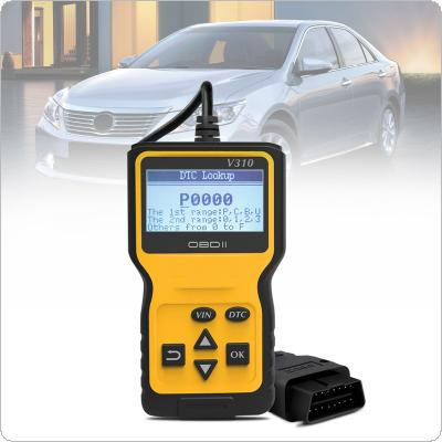 V310 OBDII 9V - 16V 16 Pin Multi-languages Hand-held Universally Automobile Diagnostic Scanner Support Clear the Fault Code