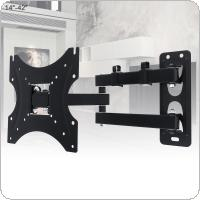 Universal 35KG Adjustable TV Wall Mount Bracket Flat Panel TV Frame Support 15 Degrees Tilt with Cable Clip for 14 - 42 Inch LCD LED Monitor