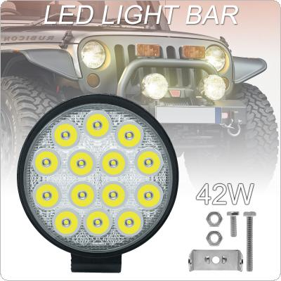 4 Inch 4200LM Led Work Light Bar 42W Driving Pods Spot Beam Work Lamp for Off-Road Suv Boat 4X4 Jeep JK 4Wd Truck 12V-24V