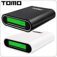 TOMO T4 USB Li-ion Intelligent Battery Charger Portable LCD Smart DIY Mobile Power Bank Case Support Apple / Android Input Interface for Smartphone