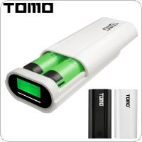 TOMO T2 USB Li-ion Intelligent Battery Charger Portable LCD Smart DIY Mobile Power Bank Case Support Apple Interface and Dual Outputs for Smartphone