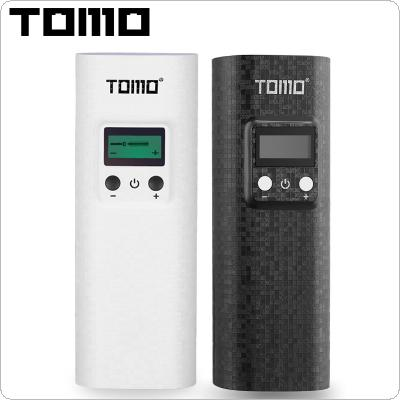 TOMO K2 USB Li-ion Intelligent Battery Charger Portable LCD Smart Mobile Power Bank Case with Flashlight Function Support Dual 18650 Batteries for Smartphone