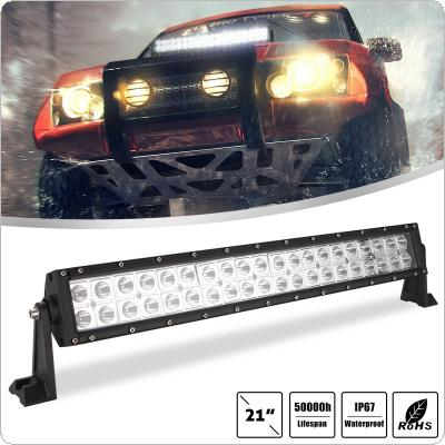 21 Inch 200W 2 Rows Led Work Light Bar 6000K White Waterproof  for Off-Road Suv Boat 4X4 Jeep JK 4Wd Truck 12V-24V