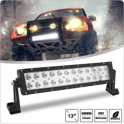 13 Inch 120W 2 Rows Led Work Light Bar 6000K White Waterproof for Off-Road Suv Boat 4X4 Jeep JK 4Wd Truck 12V-24V