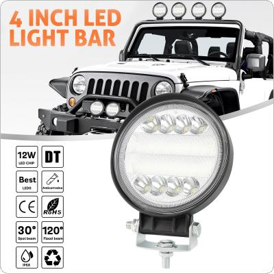 4 Inch 72W 7200LM 4 Rows Led Work Light Bar 6000K White Waterproof for Off-Road Suv Boat 4X4 Jeep JK 4Wd Truck 12V-24V