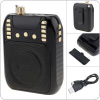 T506 Portable Radio Mini Audio Card Speaker FM Radio with Audio Radio Amplification for Teacher / Guide
