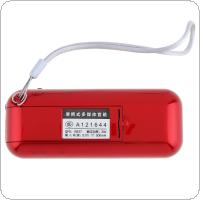 E28 Portable Radio Mini Audio Card Speaker FM Radio with 3.5mm Headphone Jack for Home / Outdoor