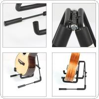 Aluminum Alloy Folding Ukulele Violin Stand Soft Sponge String Instruments Holder