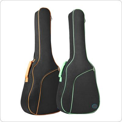 40/41 Inch Oxford Fabric Guitar Case Colorful Edge Gig Bag Double Straps Padded 10mm Cotton Soft Waterproof Backpack