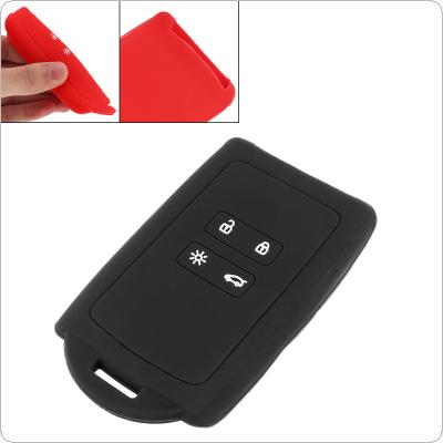 2 Colors 2 Buttons Silicone Straight Plate Car Key Cover Protector Holder for Renault Koleos Kadjar Megan 2016-2017