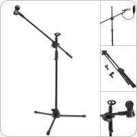 Professional Swing Boom Floor Metal Stand / Microphone Holder / Microphone stand Adjustable Stage Tripod
