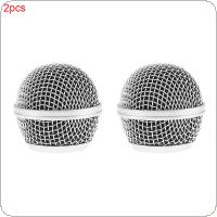 2pcs Professional Replacement Ball Head Mesh Microphone Grille Fit For Shure BETA58 / BETA58A / SM58 / SM58S / SM58LC