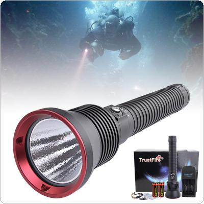 TrustFire DF70 3200LM XHP-70 LED Diving Flashlight Underwater 70m Diving with 2 X 26650 Battery and Battery Charger for Professional Diving / Outdoor