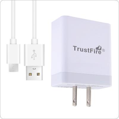 TrustFire Mini USB Charger 5V 4A  US / EU Plug Charger Adapter for Mobile Phone / Tablet