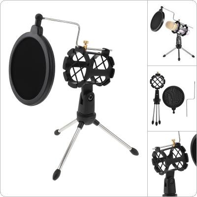 Portable Adjustable Studio Holder Desktop Tripod with Windshield Filter and Shock Absorption function