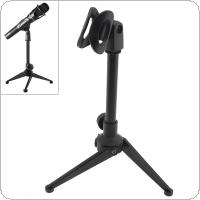 Portable Plastic Microphone Three-Legged Lifting Stand 180 Degree Rotation Angle