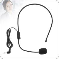Universal Portable 3.5mm Jack Threaded Headset for Microphones for Teachers Guides Conference Presentations Electronics