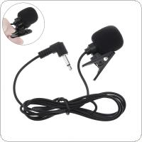 Universal Portable 3.5mm Mini Headset Microphone Lapel Collar Clip Microphone for Lecture Teaching Conference