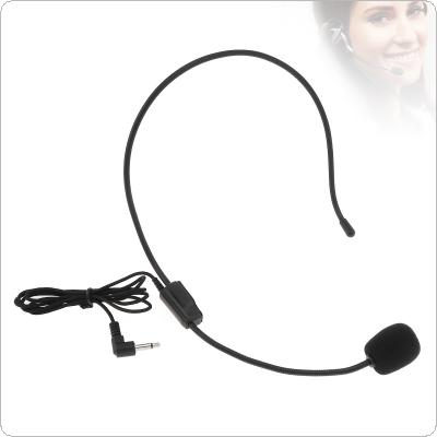 Universal Portable 3.5mm Mini Headset Capacitive Rotary Microphone for Lecture Teaching / Computer / Mobile Phone