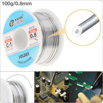 63/37 C-1 100g 0.8mm High Purity No Clean Rosin Core Solder Tin Wire Reel with 2% Flux and Low Melting Point for Electric Soldering Iron