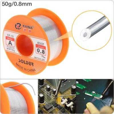63/37 50g 0.8mm No Clean Rosin Core Solder Tin Wire Reel with 2% Flux and Low Melting Point for Electric Soldering Iron