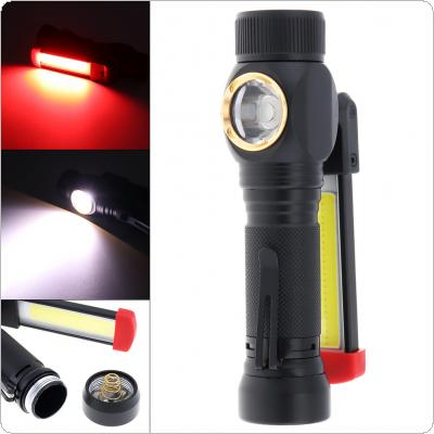 Aluminum Alloy 7 Modes Light USB Charging COB LED Work Lamp with Side Lamp and Magnet Adsorption Support 180 Degree Rotation for Vehicle Overhaul / Auto Repair