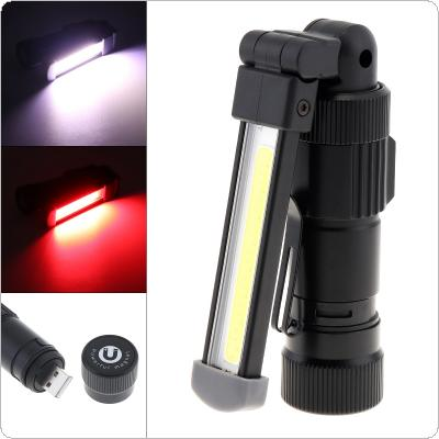 Aluminum Alloy 5 Modes Light USB Charging COB LED Work Lamp with Side Lamp and Magnet Adsorption Support 360 Degree Rotation for Vehicle Overhaul / Auto Repair