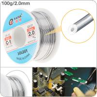 63/37 C-1 100g 2.0mm High Purity No Clean Rosin Core Solder Tin Wire Reel with 2% Flux and Low Melting Point for Electric Soldering Iron