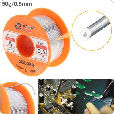 63/37 50g 0.5mm No Clean Rosin Core Solder Tin Wire Reel with 2% Flux and Low Melting Point for Electric Soldering Iron