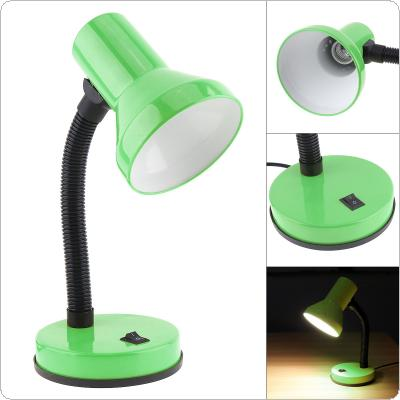 LED Portable Flexural Desk Lamp with Wide Voltage and Push Switch Support E27 Bulb for Student Domitory / Office