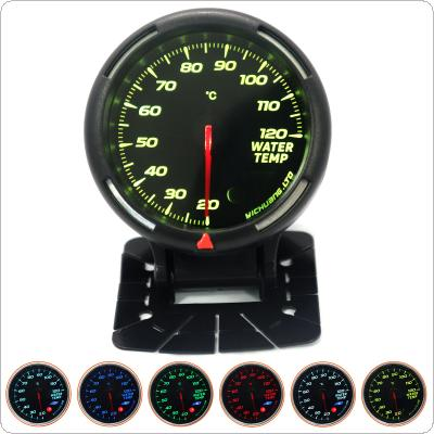 "60MM 20-120 Degree Celsius Water Temperature Gauge 64 Backlight  with  Sensor (NPT1/8"")  for 12V Vehicles"