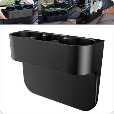 3 In 1  Universal  Multifunctional Portable PP Car-mounted Water Cup Beverage Rack Mobile Phone Seat Box with Non-slip Rubber Ring