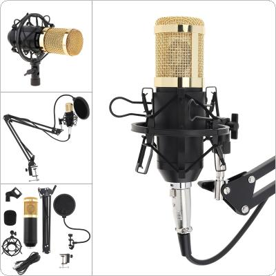 BM 800 Karaoke Professional Condenser Microphone with Stand Arm and Pop Filter for Computer / Wired Studio / Live