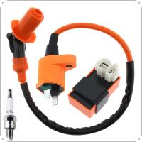 Orange Racing Ignition Coil for ATV Buggy / GY6 / 50CC / 125CC / 150CC